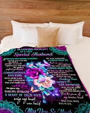 "To My Mom Large Fleece Blanket - 60"" x 80"" aos-coral-fleece-blanket-60x80-lifestyle-front-02"