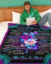 "To My Mom Large Fleece Blanket - 60"" x 80"" aos-coral-fleece-blanket-60x80-lifestyle-front-06"