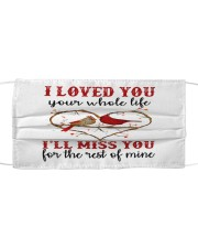 Love You Miss You Cloth face mask front