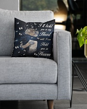 Ill Hold You In My Heart Square Pillowcase aos-pillow-square-front-lifestyle-05