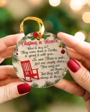 Christmas In Heaven Circle ornament - single (porcelain) aos-circle-ornament-single-porcelain-lifestyles-08