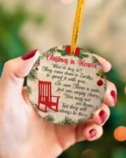 Christmas In Heaven Circle ornament - single (porcelain) aos-circle-ornament-single-porcelain-lifestyles-09