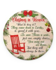 Christmas In Heaven Circle ornament - single (porcelain) front