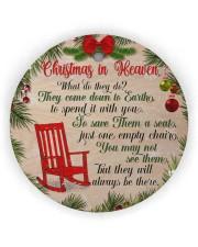 Christmas In Heaven Circle ornament - single (wood) thumbnail