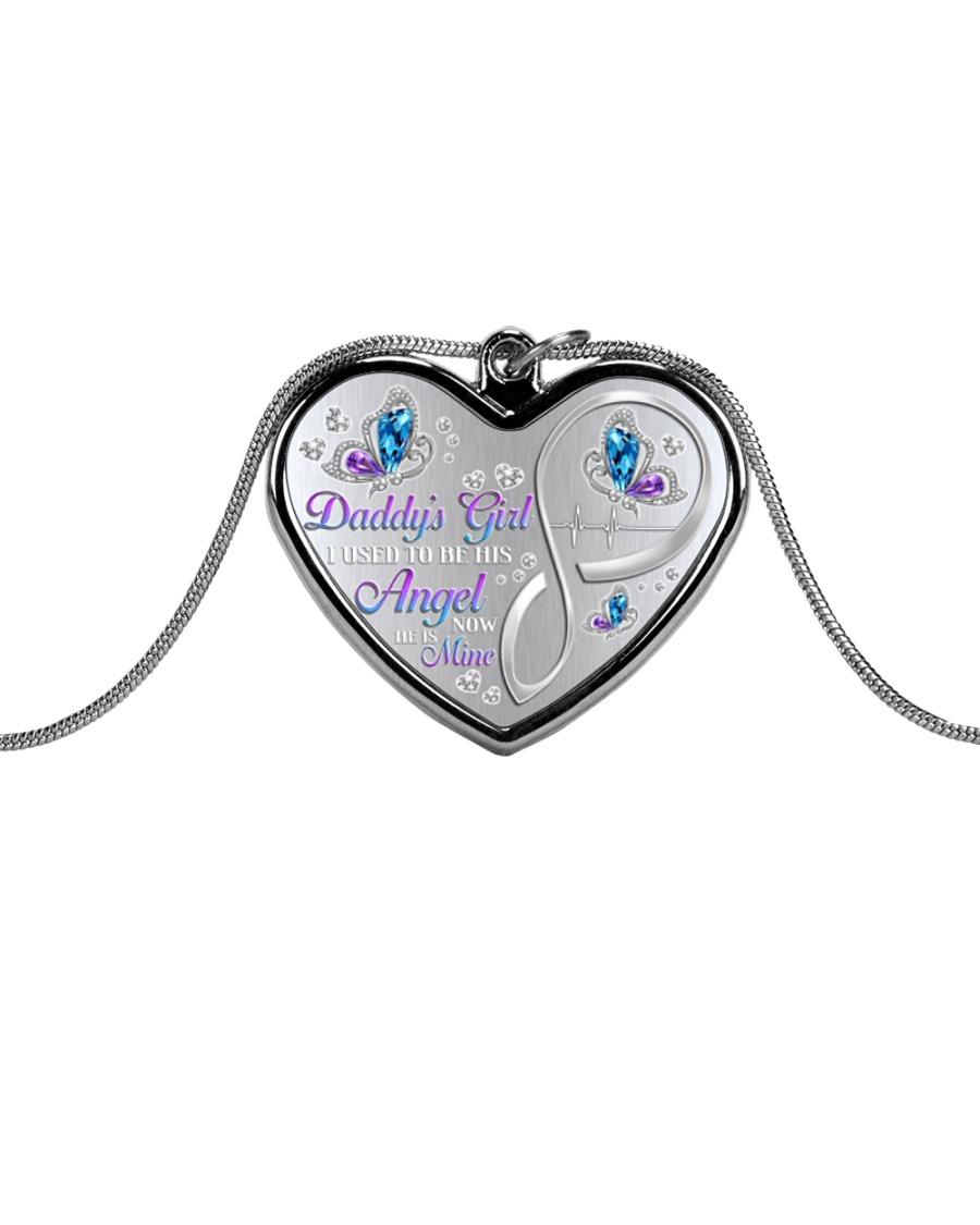Daddys Girl  Metallic Heart Necklace