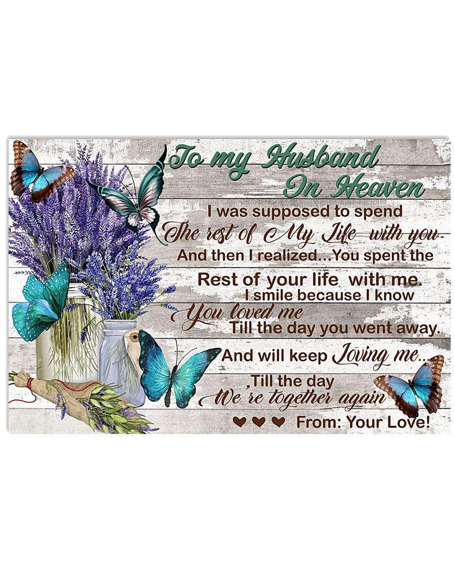To My Husband In Heaven 17x11 Poster