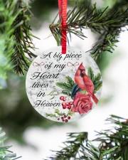 A Big Piece Of My Heart Circle ornament - single (porcelain) aos-circle-ornament-single-porcelain-lifestyles-07