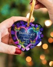 Daddys Girl Heart ornament - single (porcelain) aos-heart-ornament-single-porcelain-lifestyles-08