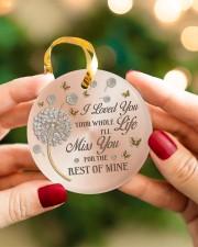 I Loved You Circle ornament - single (porcelain) aos-circle-ornament-single-porcelain-lifestyles-08