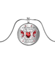 A Big Piece Of My Heart Metallic Circle Necklace front