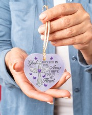 God Has You In His Arms Heart ornament - single (porcelain) aos-heart-ornament-single-porcelain-lifestyles-01