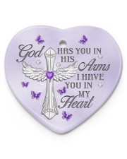 God Has You In His Arms Heart ornament - single (porcelain) front
