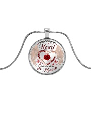 I Hold You In My Heart Metallic Circle Necklace front