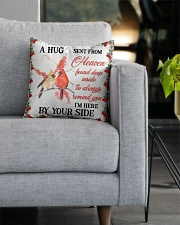 A Hug Sent From Heaven Square Pillowcase aos-pillow-square-front-lifestyle-05