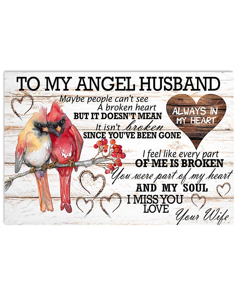 To My Angel Husband 17x11 Poster