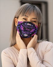 Daddy's Girl I Used To Be His Angel Now He's Mine Cloth face mask aos-face-mask-lifestyle-17