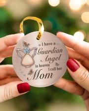 I Have A Guardian Angel Circle ornament - single (porcelain) aos-circle-ornament-single-porcelain-lifestyles-08