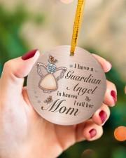 I Have A Guardian Angel Circle ornament - single (porcelain) aos-circle-ornament-single-porcelain-lifestyles-09