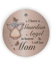 I Have A Guardian Angel Circle ornament - single (wood) thumbnail