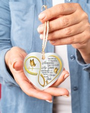 You Left Me Beautiful Memories Heart ornament - single (porcelain) aos-heart-ornament-single-porcelain-lifestyles-01