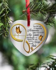 You Left Me Beautiful Memories Heart ornament - single (porcelain) aos-heart-ornament-single-porcelain-lifestyles-07
