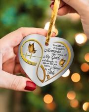 You Left Me Beautiful Memories Heart ornament - single (porcelain) aos-heart-ornament-single-porcelain-lifestyles-08