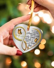 You Left Me Beautiful Memories Heart ornament - single (porcelain) aos-heart-ornament-single-porcelain-lifestyles-09