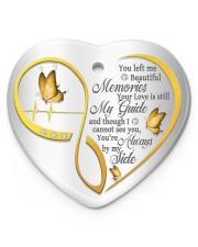 You Left Me Beautiful Memories Heart ornament - single (porcelain) front