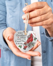 Your Loved One Is Near Heart ornament - single (porcelain) aos-heart-ornament-single-porcelain-lifestyles-01