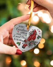 Your Loved One Is Near Heart ornament - single (porcelain) aos-heart-ornament-single-porcelain-lifestyles-09