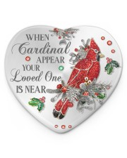 Your Loved One Is Near Heart ornament - single (porcelain) front