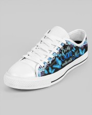 My Son Walks With Me Men's Low Top White Shoes aos-men-low-top-shoes-ghosted-white-outside-left-02