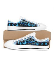 My Son Walks With Me Men's Low Top White Shoes inside-right-outside-right