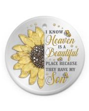 Because They Have My Son Circle ornament - single (porcelain) front