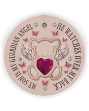 My Son Is My Guardian Angel Circle ornament - single (wood) thumbnail