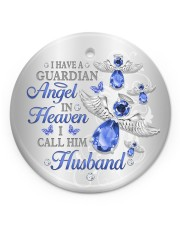 I Have A Guardian Angel Circle ornament - single (porcelain) front