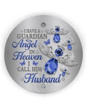 I Have A Guardian Angel Circle Ornament (Wood tile