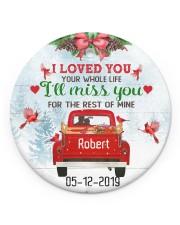 I Loved You Circle ornament - single (porcelain) front