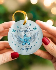 I Am The Daughter Circle ornament - single (porcelain) aos-circle-ornament-single-porcelain-lifestyles-08