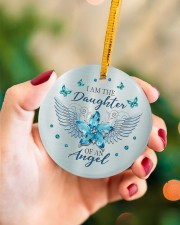 I Am The Daughter Circle ornament - single (porcelain) aos-circle-ornament-single-porcelain-lifestyles-09
