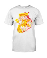 SoundQuest Psychedelic Skull T-shirt -  Premium Fit Mens Tee front