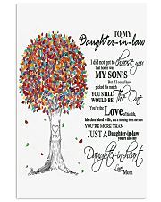 TO MY DAUGHTER IN LAW Vertical Poster tile