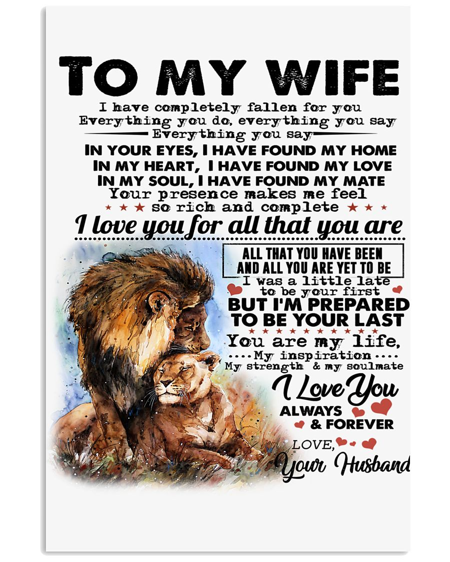 TO MY WIFE B02 16x24 Poster