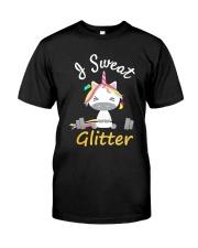 I Sweat Glitter - Unicorn Workout Exercise Classic T-Shirt thumbnail