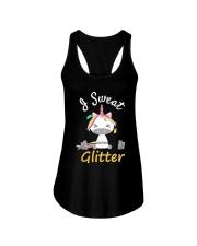 I Sweat Glitter - Unicorn Workout Exercise Ladies Flowy Tank thumbnail