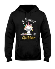 I Sweat Glitter - Unicorn Workout Exercise Hooded Sweatshirt thumbnail