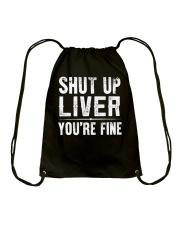 SHUT UP LIVER Drawstring Bag thumbnail