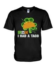 IRISH I HAD A TACO V-Neck T-Shirt front