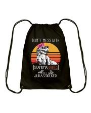 Don't Mess With Grandmasaurus - Jurasskicked Drawstring Bag thumbnail