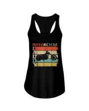 Retro Vintage Daddy Motorcycle T-Shirt Bike - Bike Ladies Flowy Tank thumbnail